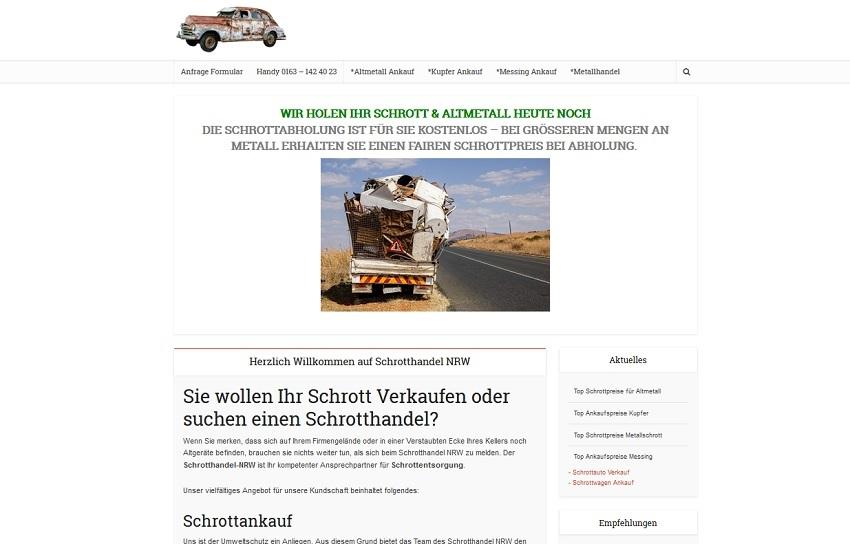 Schrotthandel Düsseldorf kümmert sich um ihre Schätze